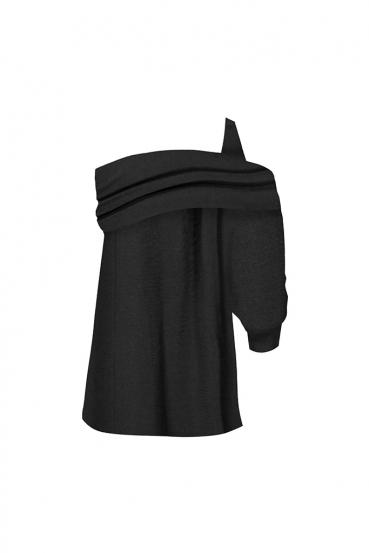 Bluzka asymetryczna DOLLY BLOUSE czarna_3