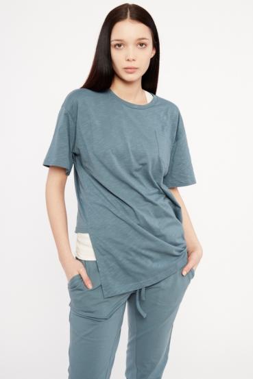 Koszulka prosta GURI T-SHIRT niebieska_1