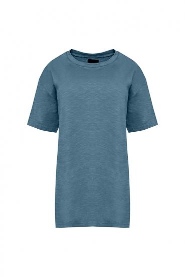Koszulka prosta GURI T-SHIRT niebieska_2