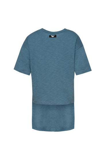 Koszulka prosta GURI T-SHIRT niebieska_3