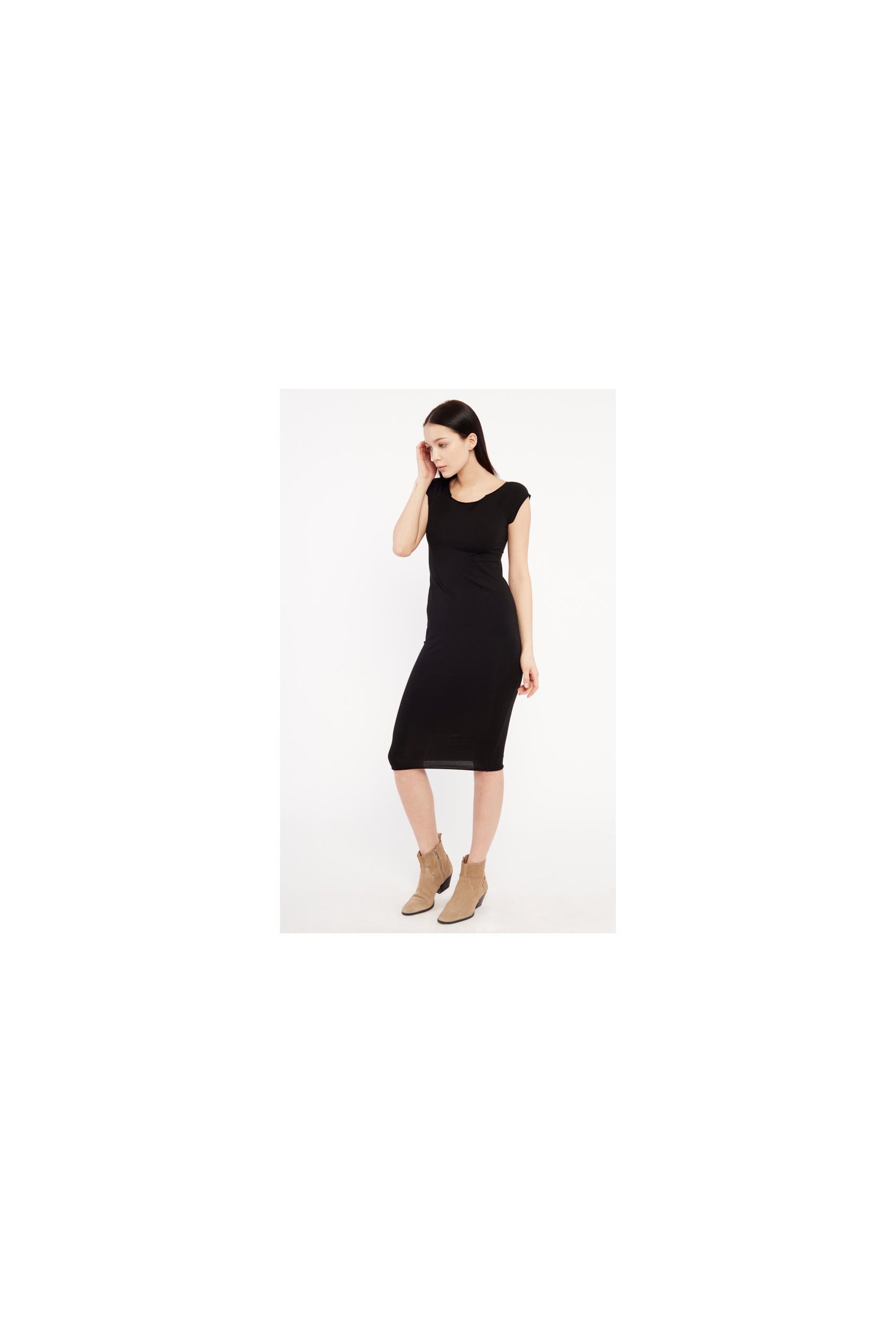 Sukienka midi HILLARY DRESS czarna