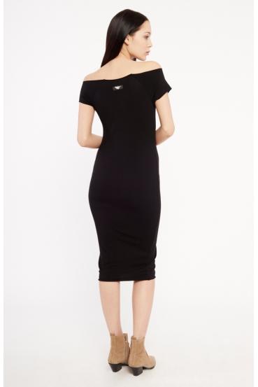 Sukienka midi HILLARY DRESS czarna_1