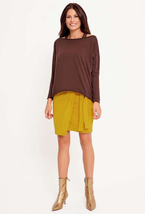 Spódnica mini JOHANNA SKIRT żółta