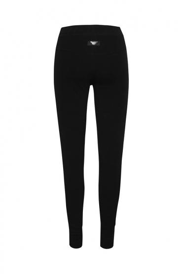 Spodnie bawełniane AMY PANTS czarne_4