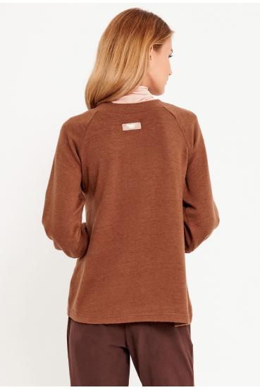 Sweter klasyczny SASHA SWEATER LTD brązowy_3