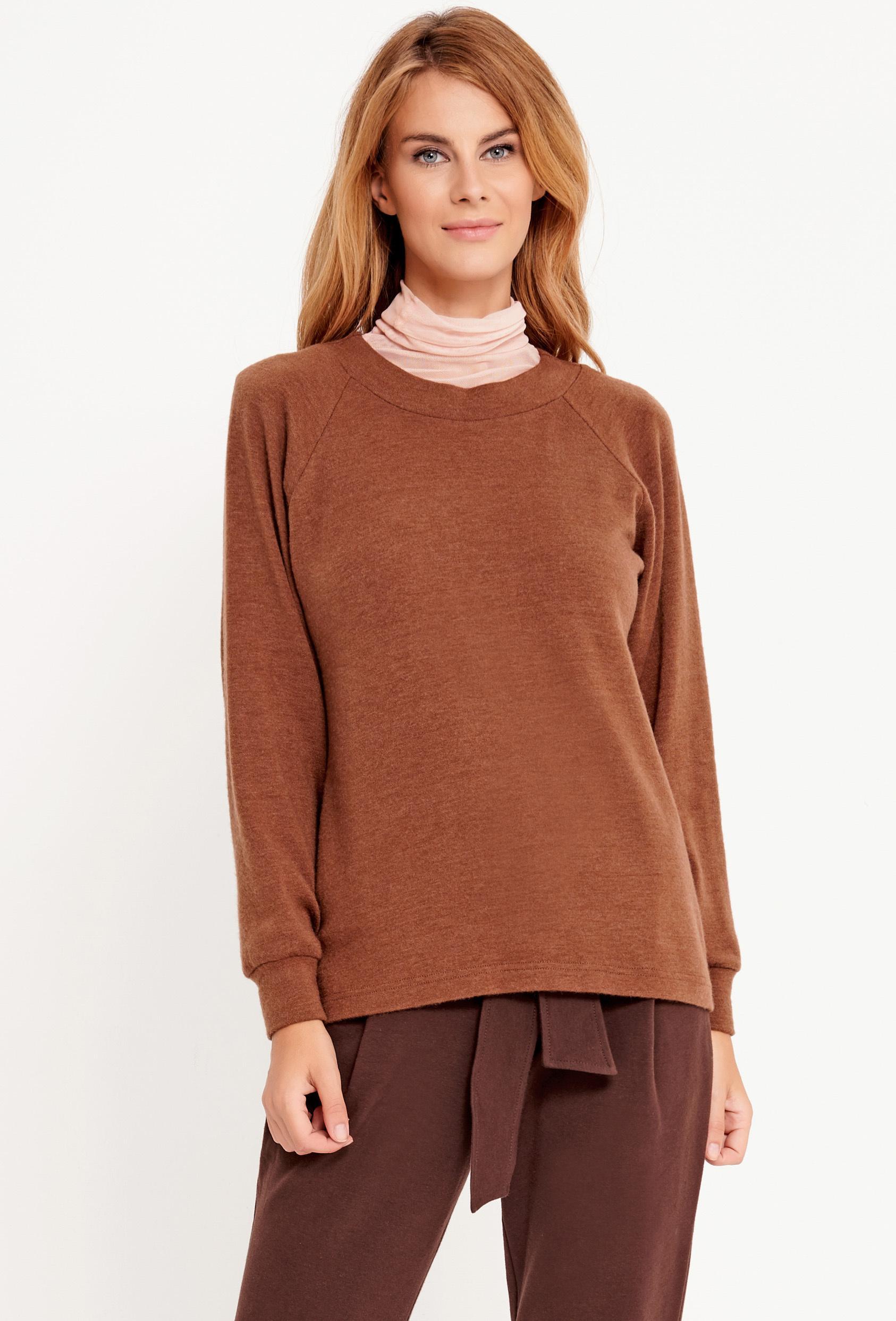 Sweter klasyczny SASHA SWEATER LTD brązowy_1