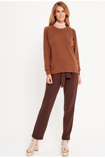 Sweter klasyczny SASHA SWEATER LTD brązowy_2