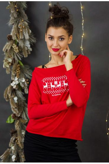 "MEGAN T-SHIRT LONG ""REINDEERS"""