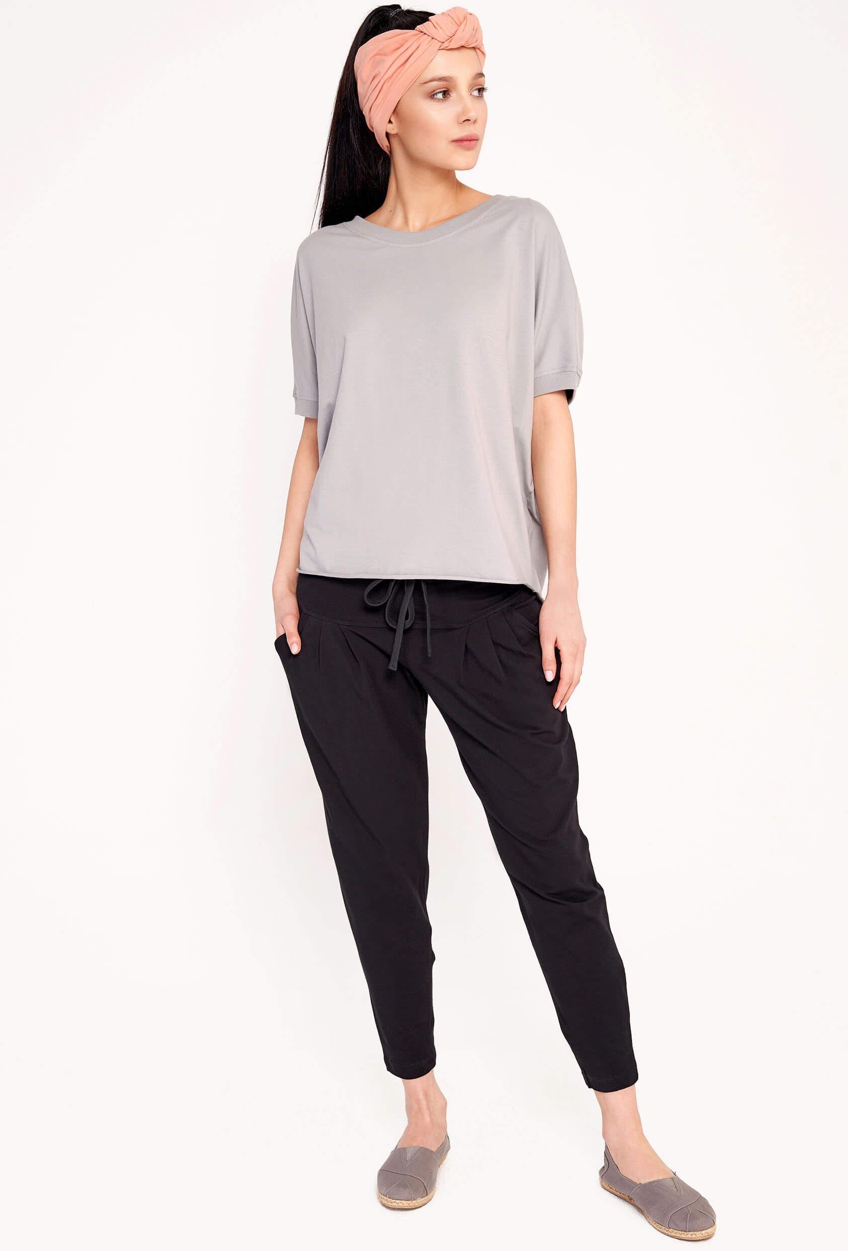 Spodnie bawełniane AVALYN PANTS czarne