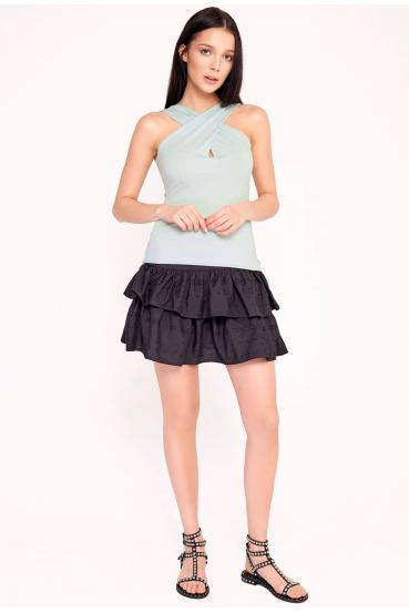 Spódnica mini koronkowa ARIELLE SKIRT LTD czarna_2