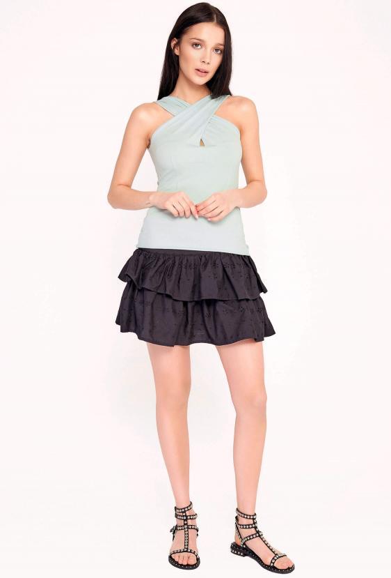 Spódnica mini koronkowa ARIELLE SKIRT LTD czarna