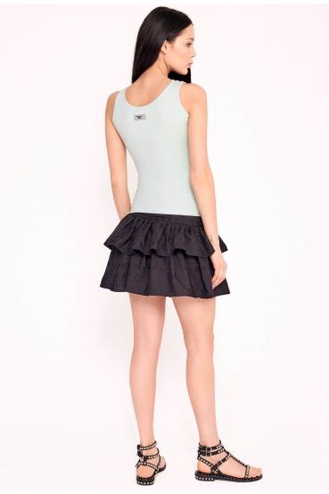 Spódnica mini koronkowa ARIELLE SKIRT LTD czarna_1