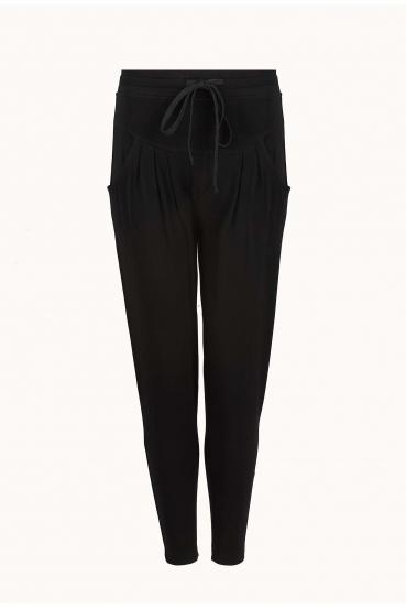 Spodnie bawełniane AVALYN PANTS czarne_2