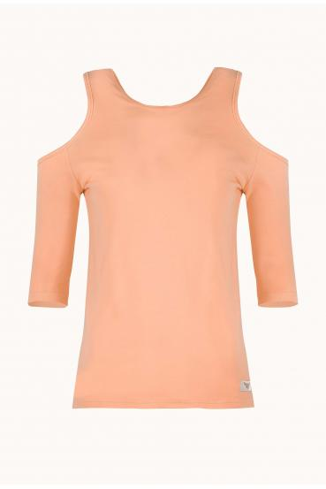 Bluzka dopasowana MIRANDA BLOUSE pomarańczowa_3
