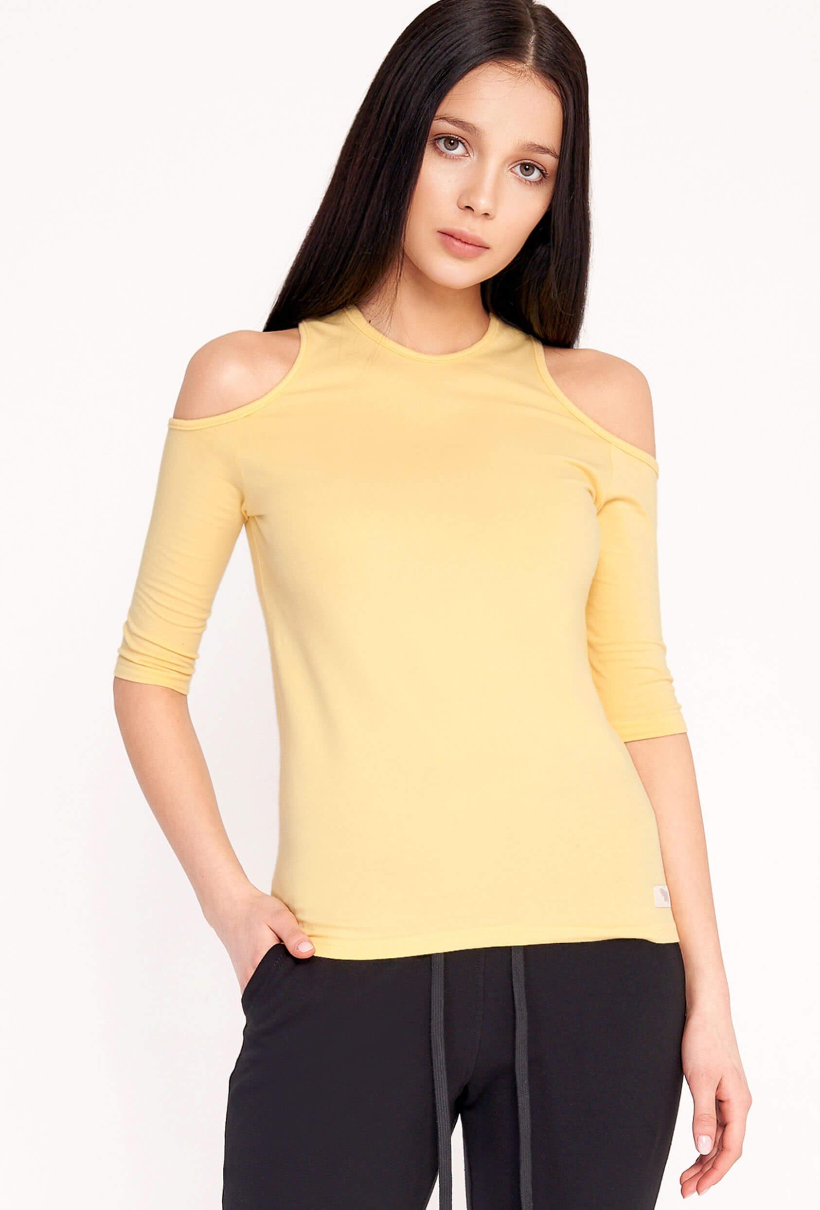 Bluzka dopasowana MIRANDA BLOUSE zółta