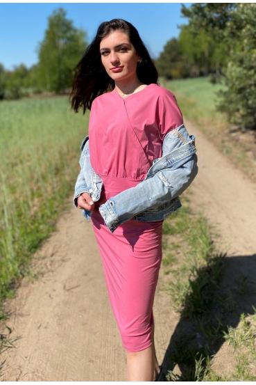 Sukienka midi ALINA DRESS malinowa_1