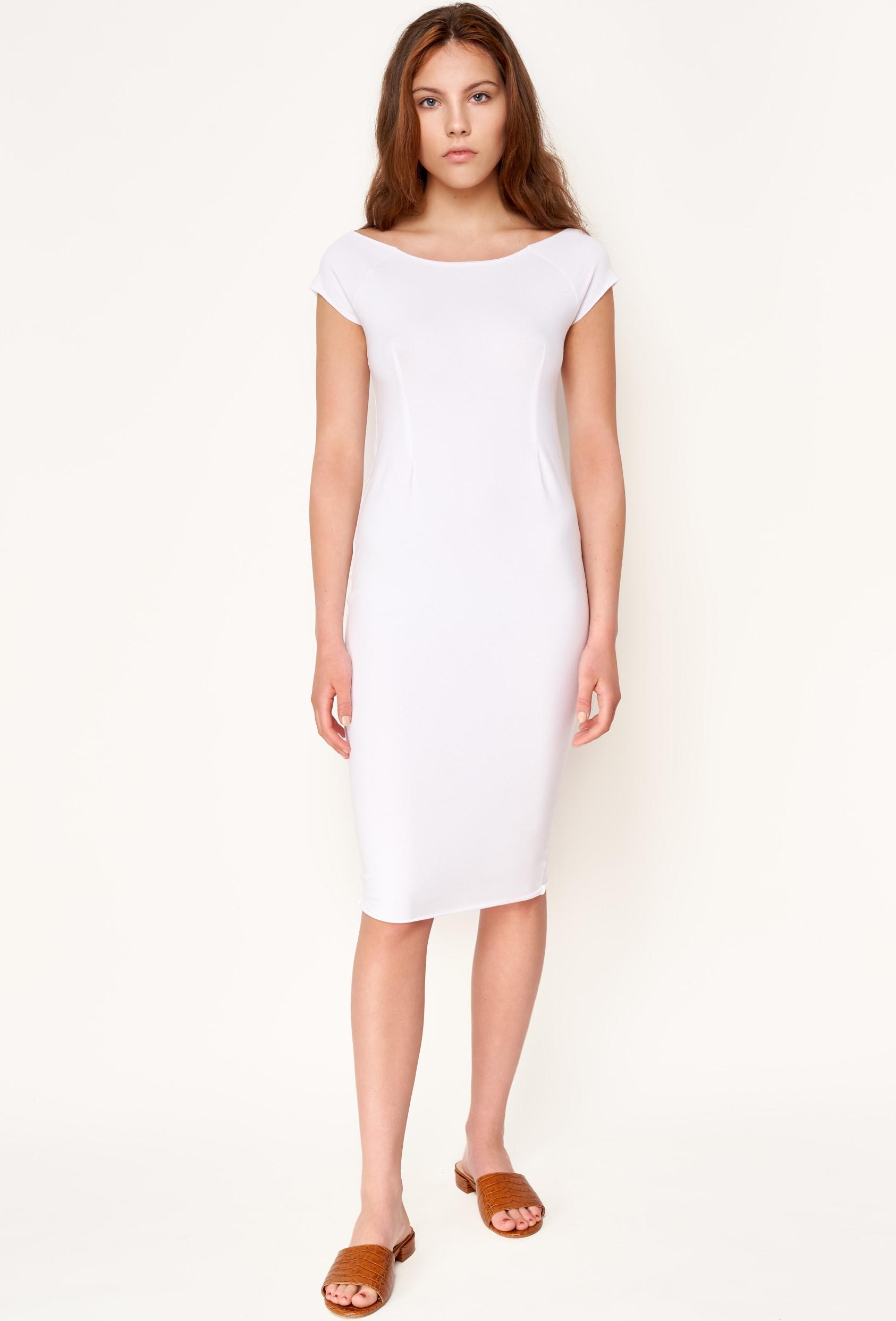 Sukienka midi HILLARY DRESS biała