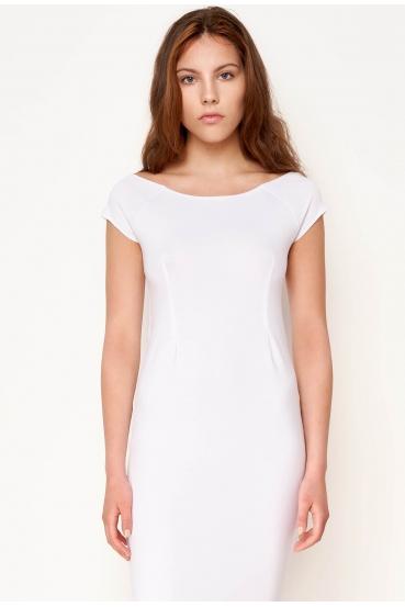 Sukienka midi HILLARY DRESS biała_1