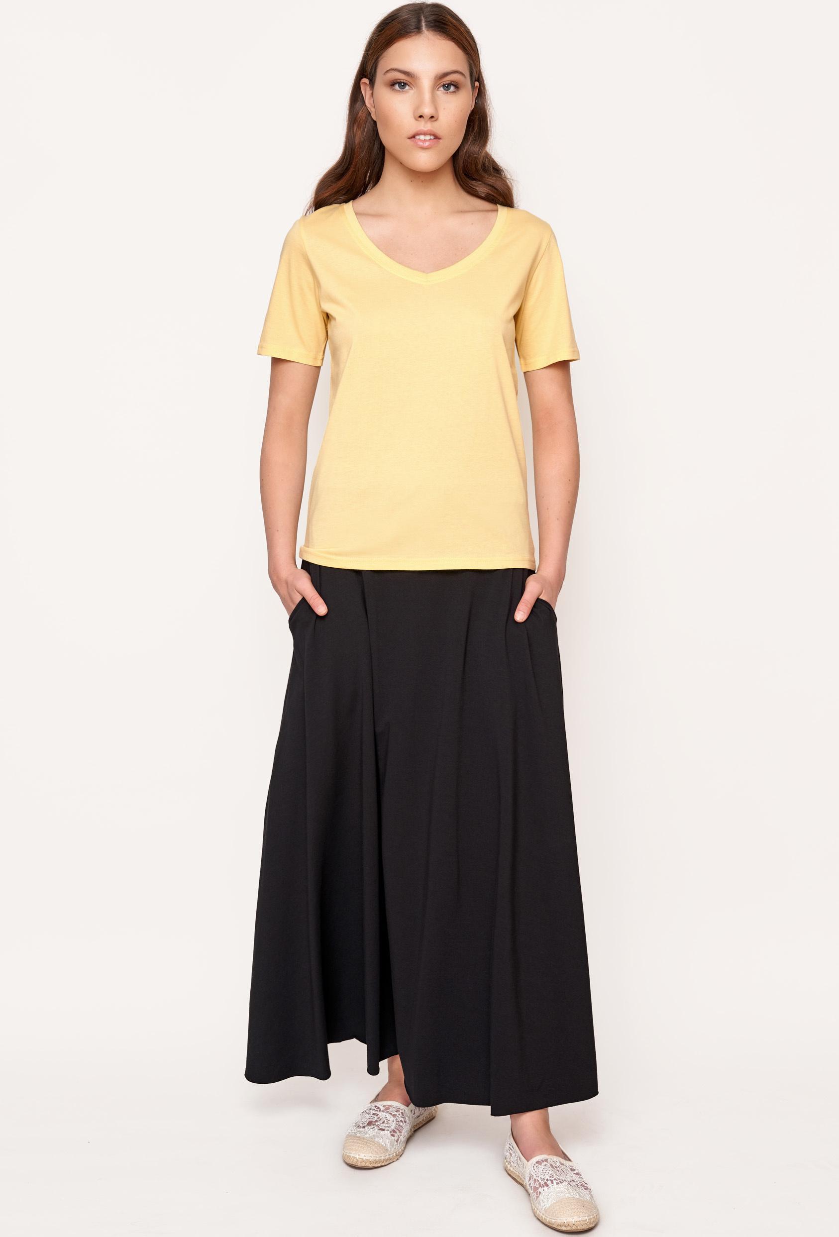 Koszulka prosta ZALIA T-SHIRT żółta