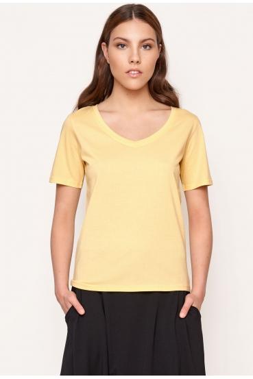 Koszulka prosta ZALIA T-SHIRT żółta_1