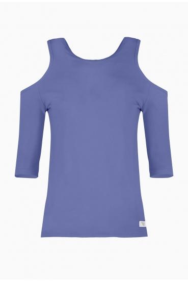 Bluzka dopasowana MIRANDA BLOUSE niebieska_2