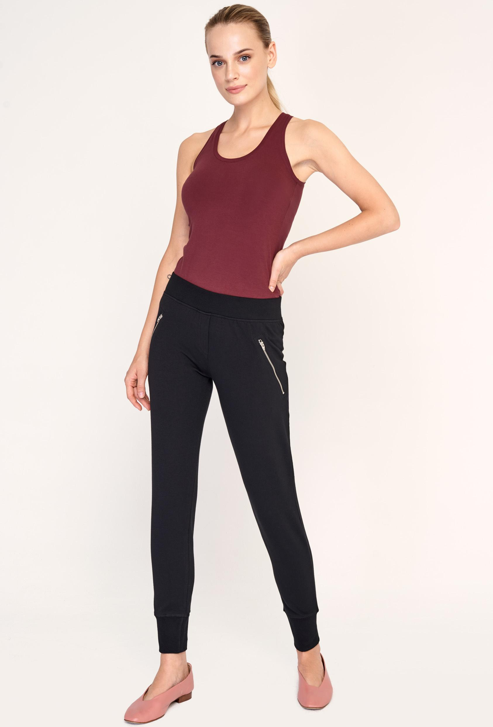 Spodnie bawełniane AMY PANTS czarne