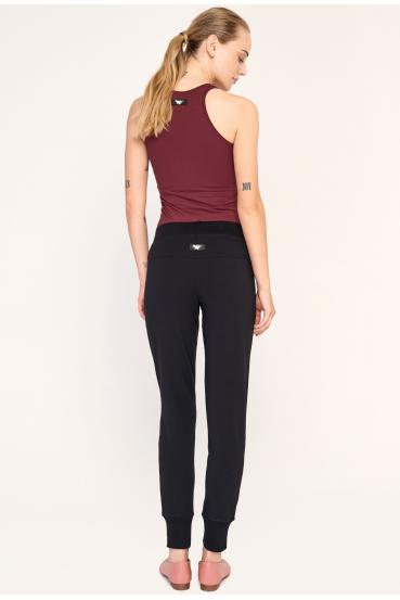 Spodnie bawełniane AMY PANTS czarne_2