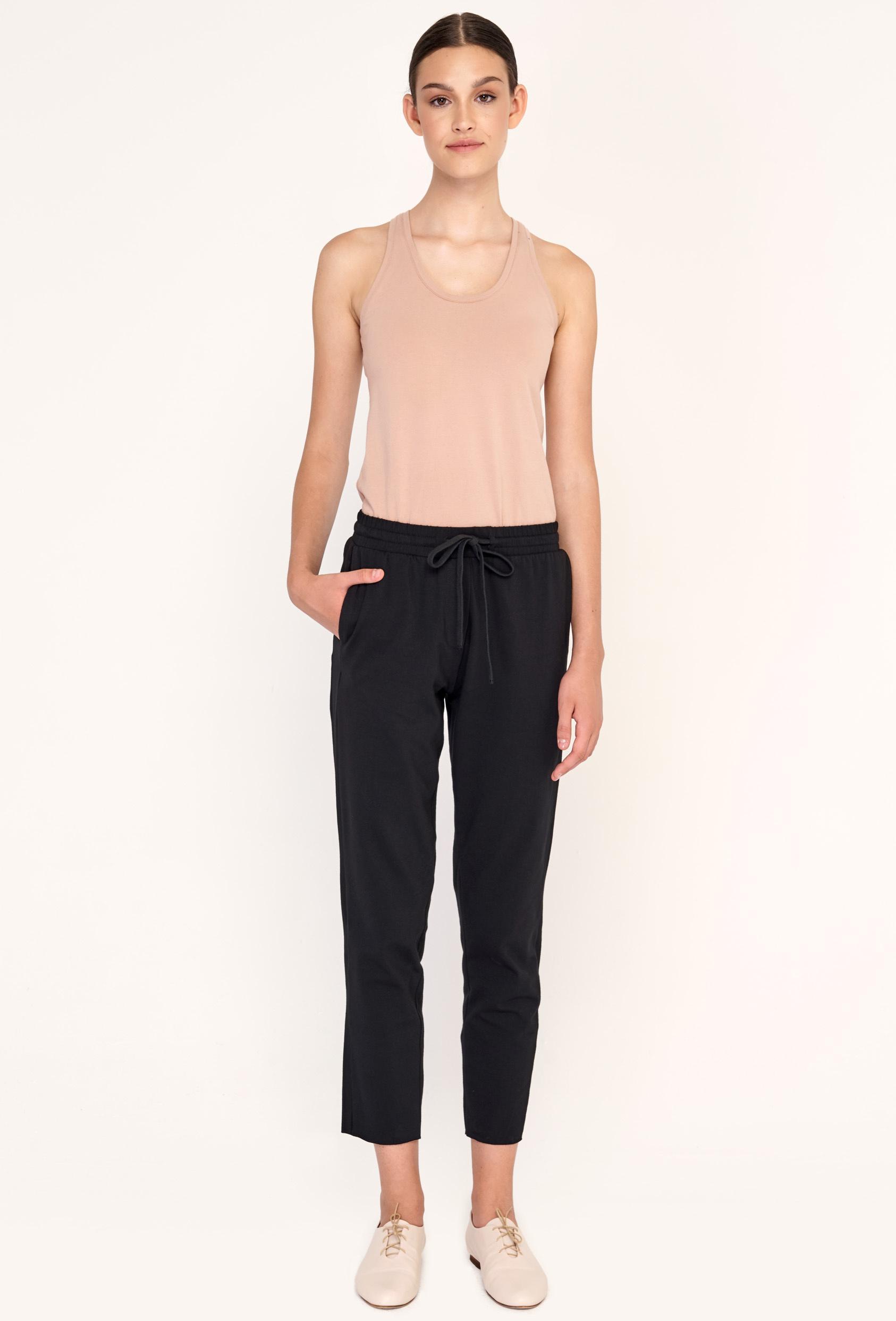 Spodnie proste TILDA PANTS czarne