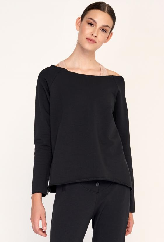 Spodnie bawełniane SYLVIA LONG PANTS czarne