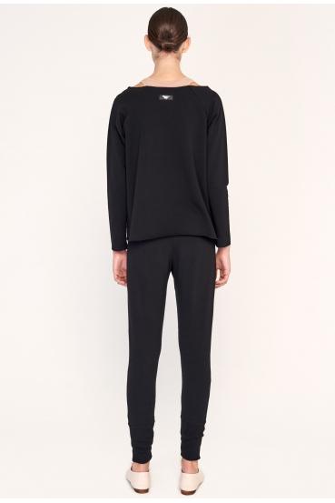 Spodnie bawełniane SYLVIA LONG PANTS czarne_2