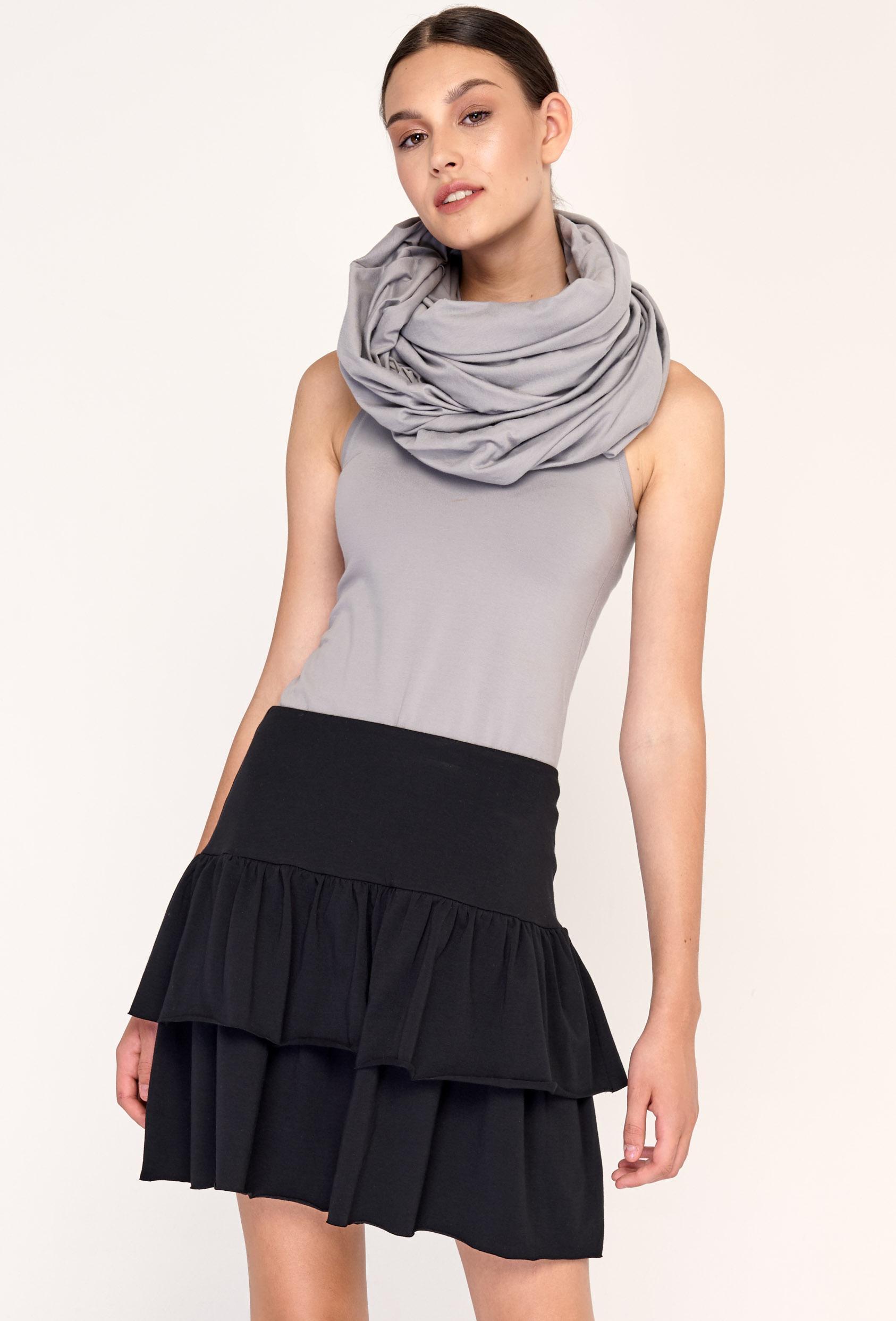 Spódnica mini rozkloszowana MARLA SKIRT czarne