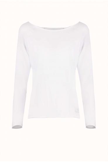 Bluzka z długim rękawem OLIVIA LONG biała_3