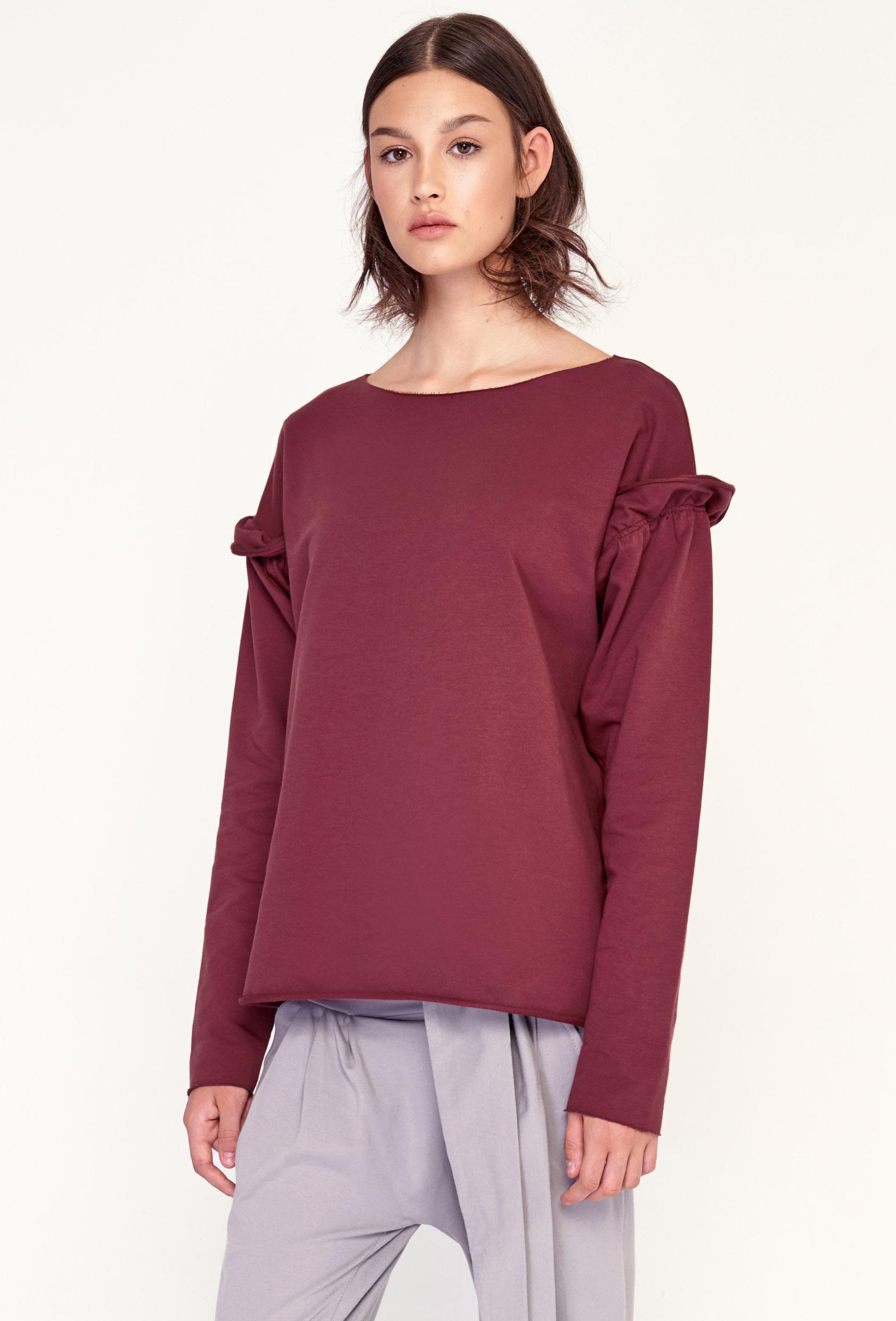 Bluza bez kaptura JOLENE BLOUSE czerwona_1