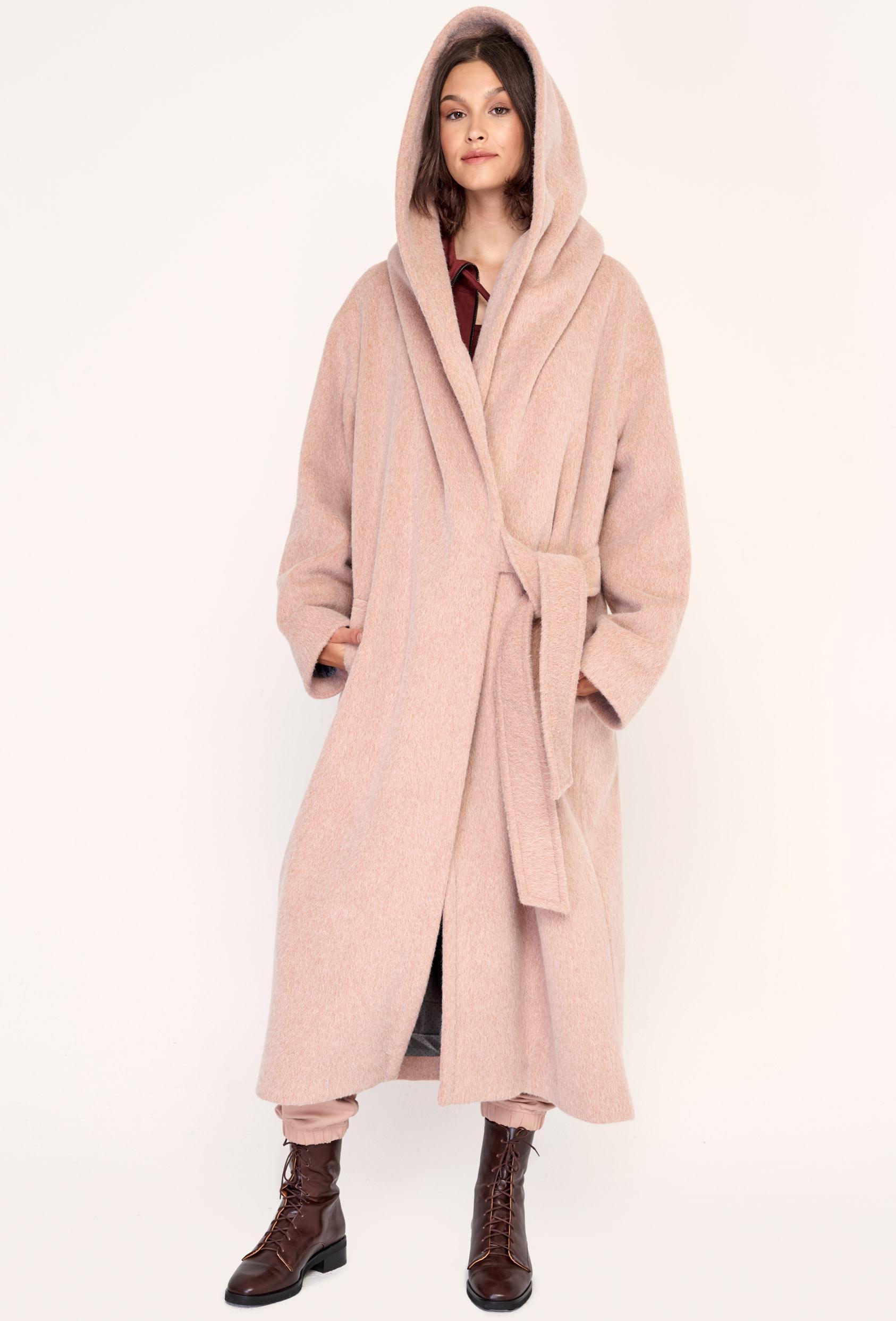 Płaszcz wiązany GERALDINE COAT 2 różowy