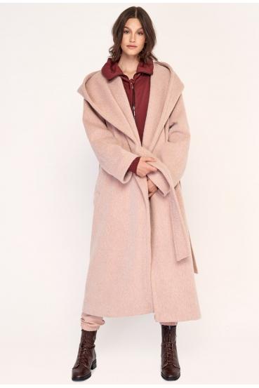 Płaszcz wiązany GERALDINE COAT 2 różowy_2