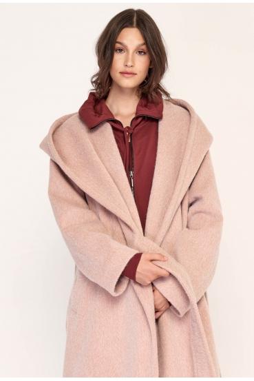 Płaszcz wiązany GERALDINE COAT 2 różowy_1