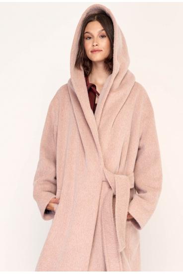 Płaszcz wiązany GERALDINE COAT 2 różowy_3