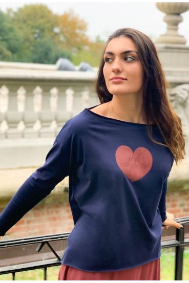 "MEGAN T-SHIRT LONG ""HEART..."