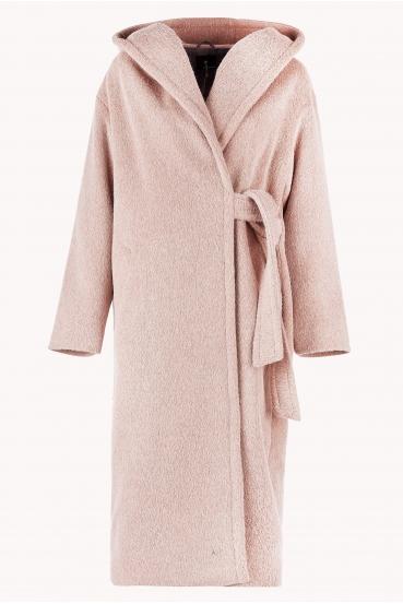 Płaszcz wiązany GERALDINE COAT 2 różowy_5