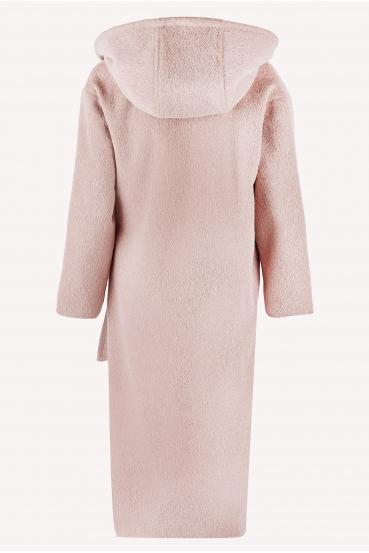 Płaszcz wiązany GERALDINE COAT 2 różowy_6