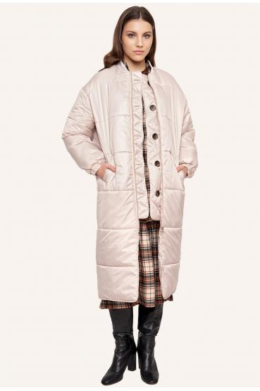 Płaszcz pikowany FLAVIE COAT kremowy_1