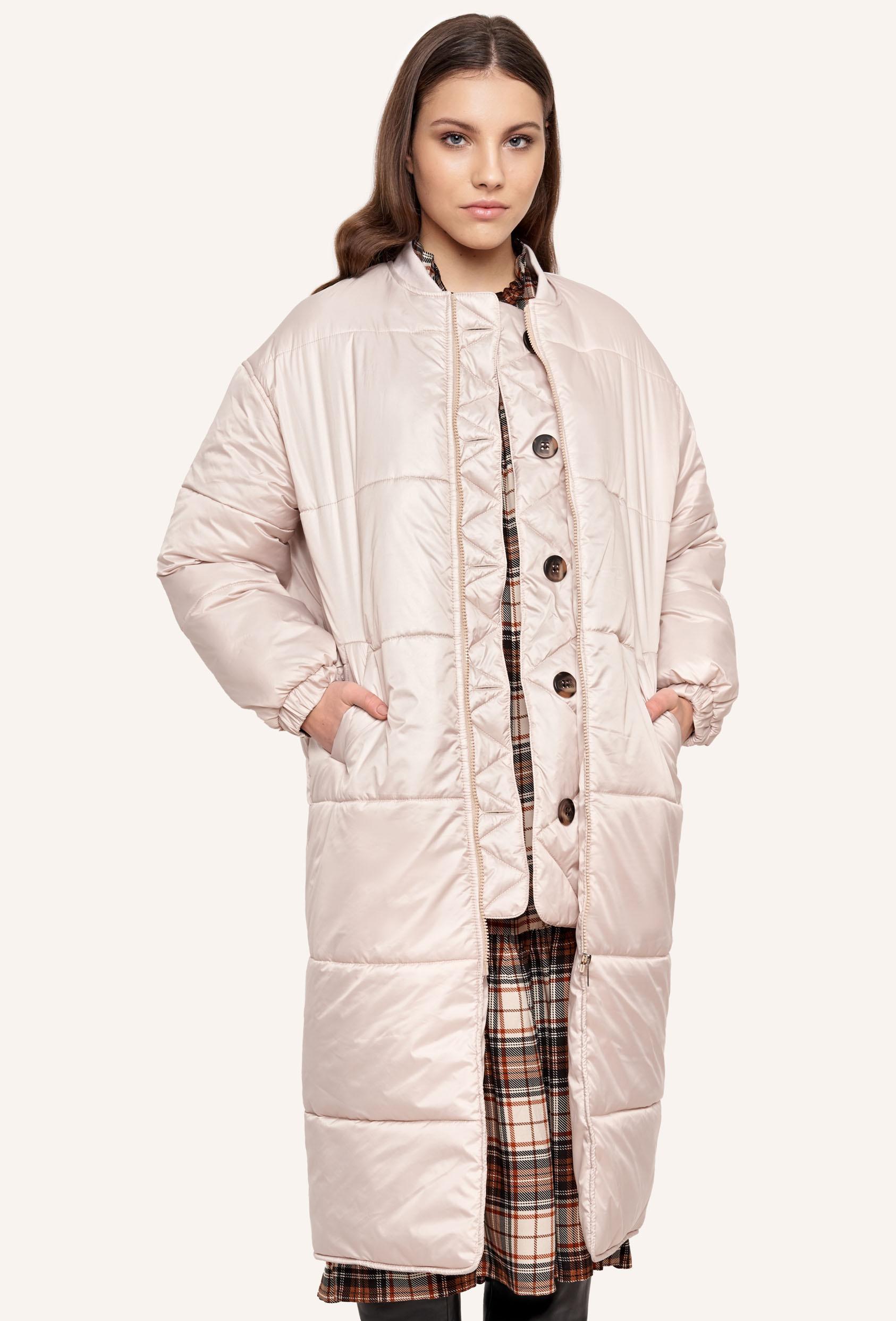 Płaszcz pikowany FLAVIE COAT kremowy