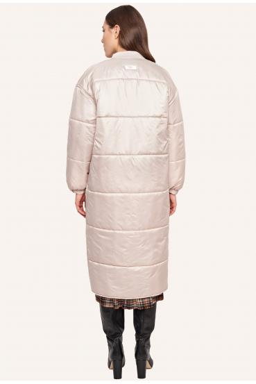 Płaszcz pikowany FLAVIE COAT kremowy_2