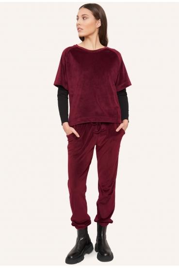 Bluzka z krótkim rękawem BIBI BLOUSE LTD czerwona_1