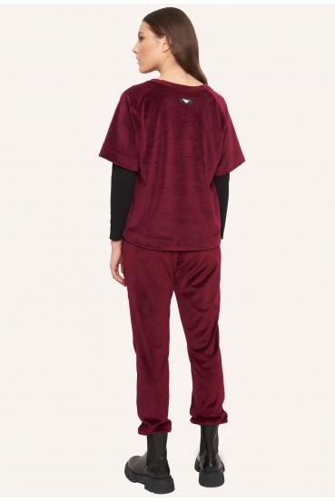 Bluzka z krótkim rękawem BIBI BLOUSE LTD czerwona_2