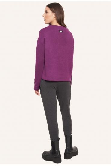 Sweter pudełkowy SAFFI SWEATER fioletowy_3