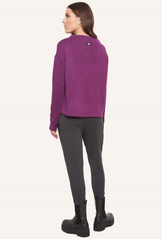 Sweter pudełkowy SAFFI SWEATER fioletowy_1