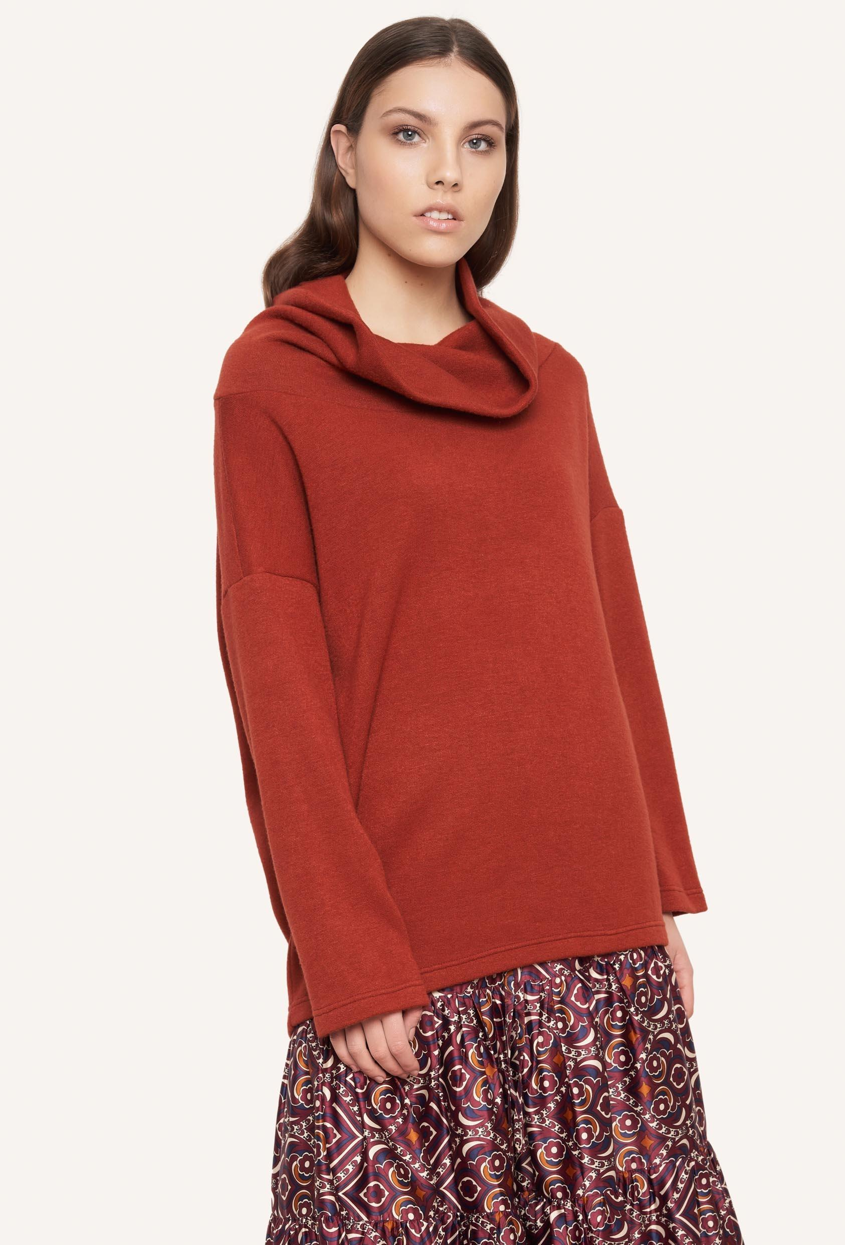 Sweter luźny RACHEL SWEATER rudy_1