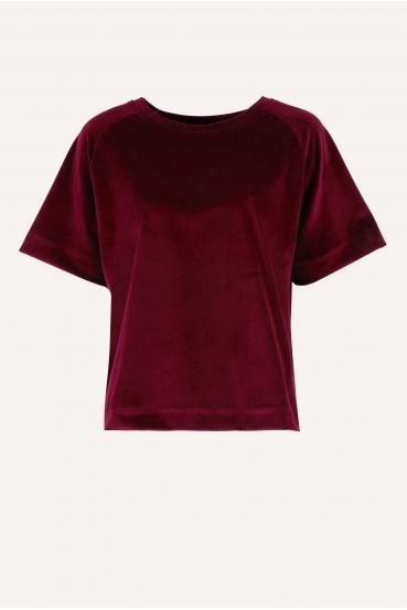 Bluzka z krótkim rękawem BIBI BLOUSE LTD czerwona_3