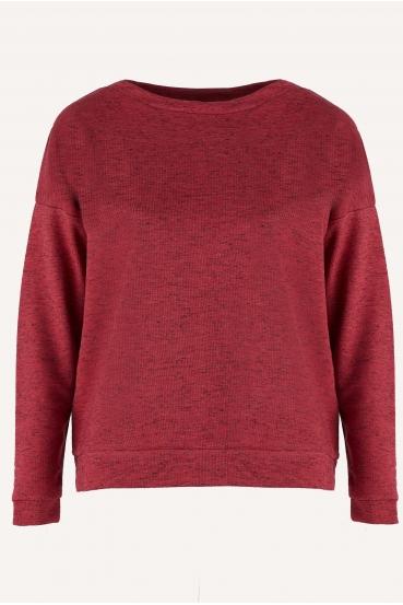 Bluza bez kaptura POPPY BLOUSE czerwona_3